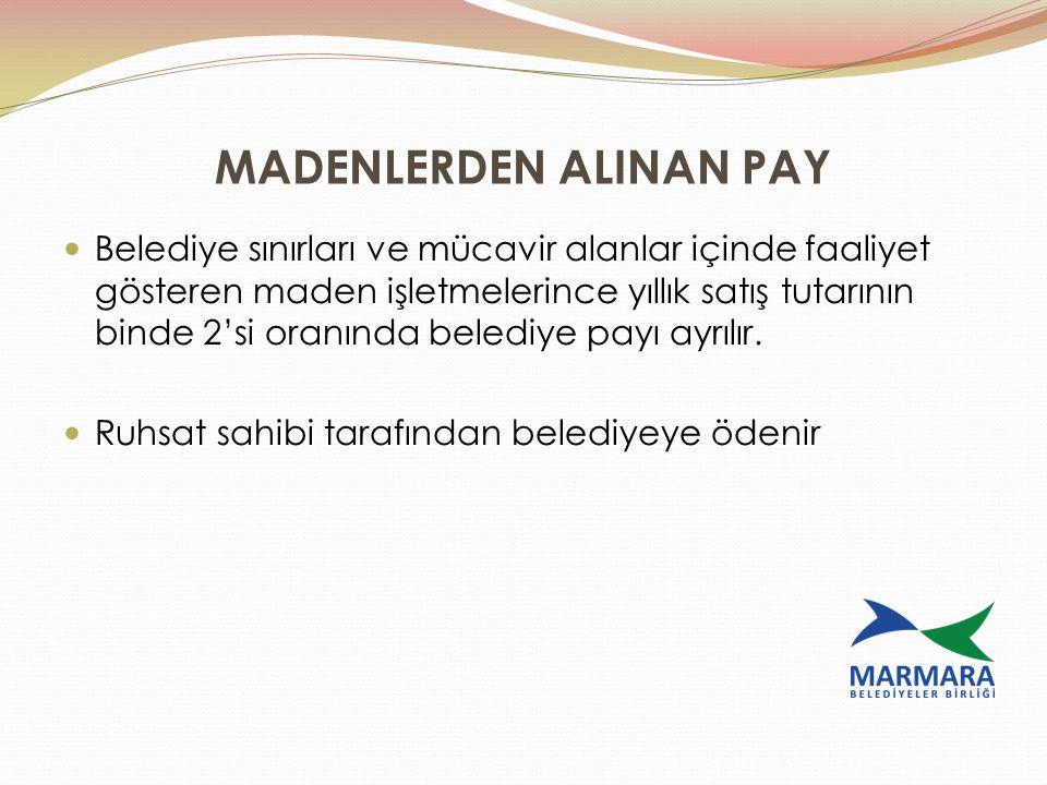 MADENLERDEN ALINAN PAY