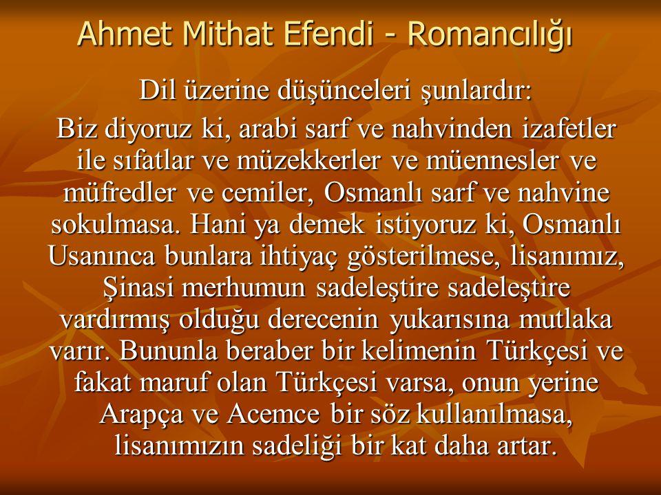 Ahmet Mithat Efendi - Romancılığı