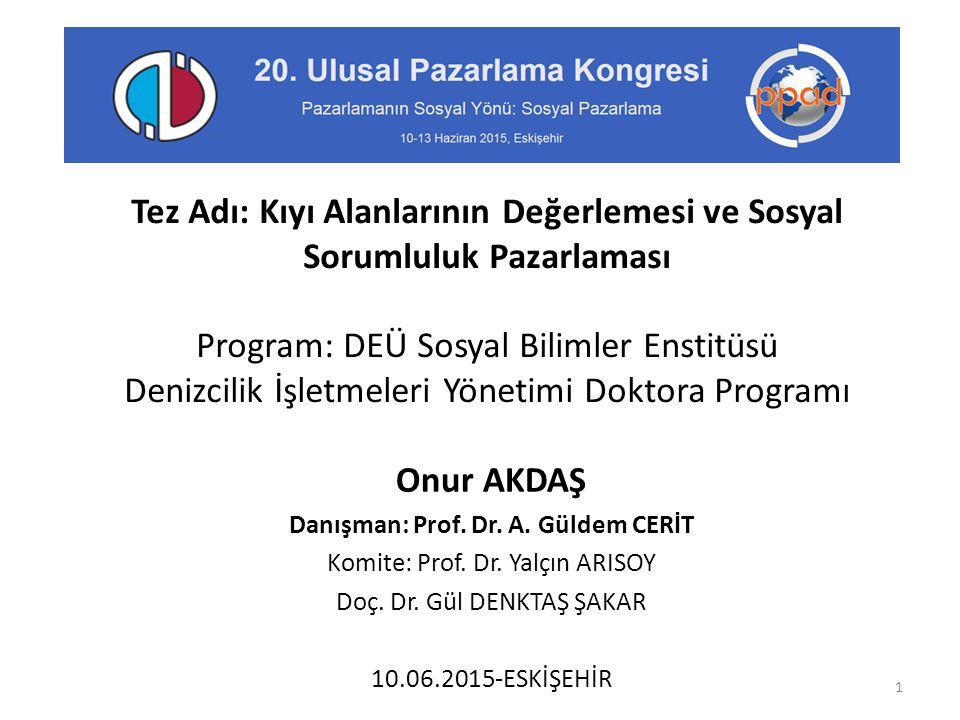 Danışman: Prof. Dr. A. Güldem CERİT
