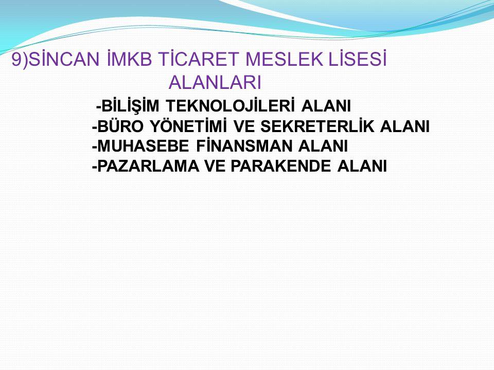 -BİLİŞİM TEKNOLOJİLERİ ALANI