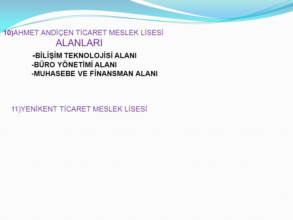 -BİLİŞİM TEKNOLOJİSİ ALANI