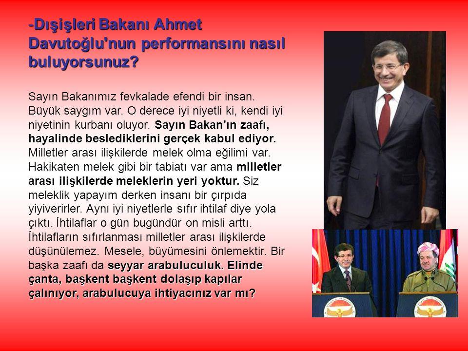 Dışişleri Bakanı Ahmet Davutoğlu nun performansını nasıl buluyorsunuz