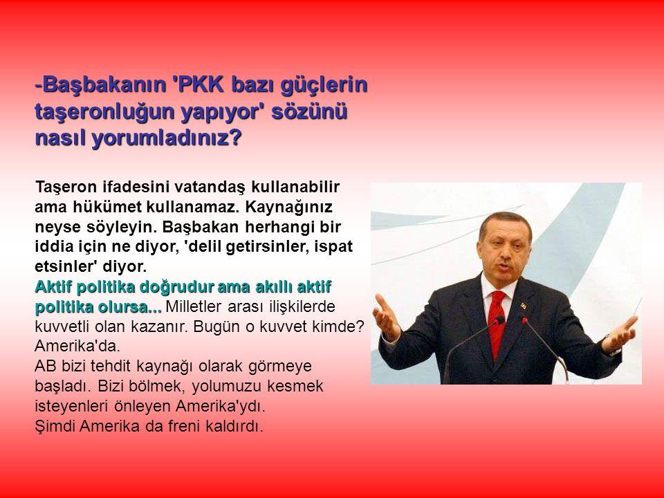 Başbakanın PKK bazı güçlerin taşeronluğun yapıyor sözünü nasıl yorumladınız
