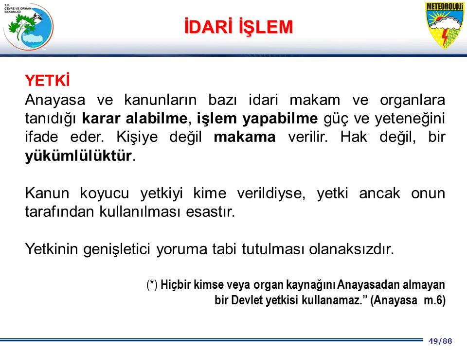 İDARİ İŞLEM YETKİ.