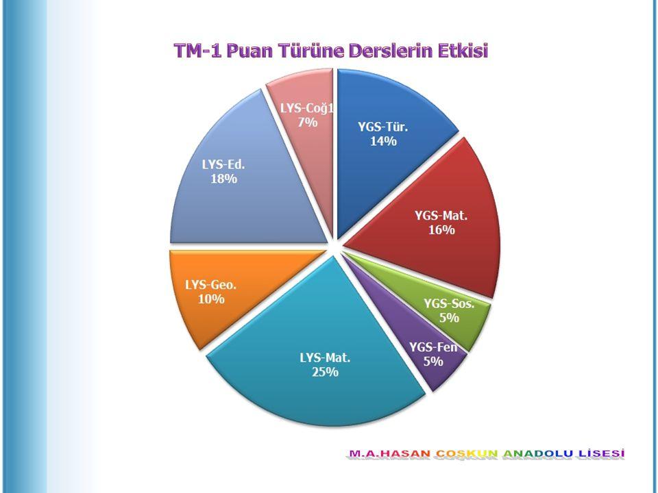TM-1 Puan Türüne Derslerin Etkisi