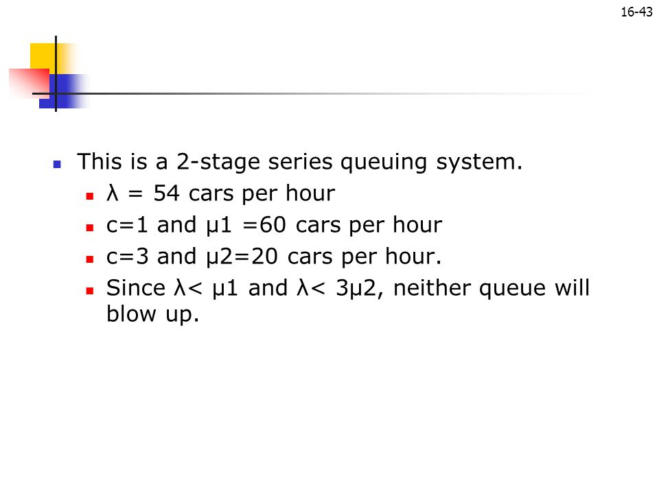 This is a 2-stage series queuing system.