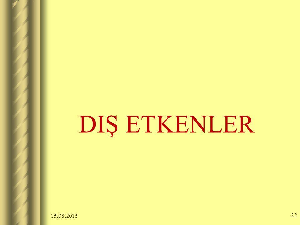 DIŞ ETKENLER 20.04.2017