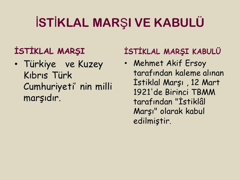 İSTİKLAL MARŞI VE KABULÜ