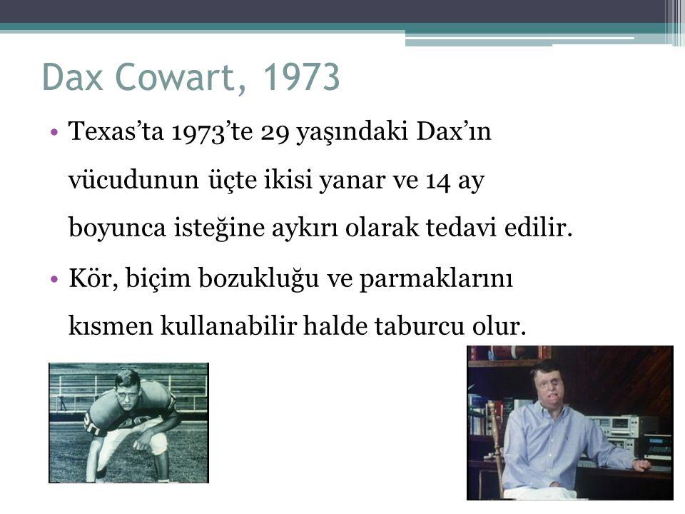 Dax Cowart, 1973 Texas'ta 1973'te 29 yaşındaki Dax'ın vücudunun üçte ikisi yanar ve 14 ay boyunca isteğine aykırı olarak tedavi edilir.