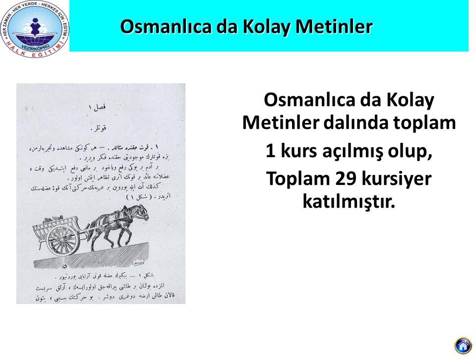 Osmanlıca da Kolay Metinler