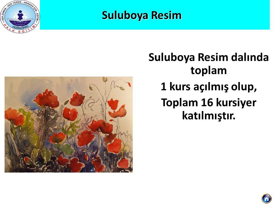 Suluboya Resim dalında toplam Toplam 16 kursiyer katılmıştır.