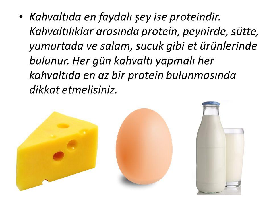 Kahvaltıda en faydalı şey ise proteindir