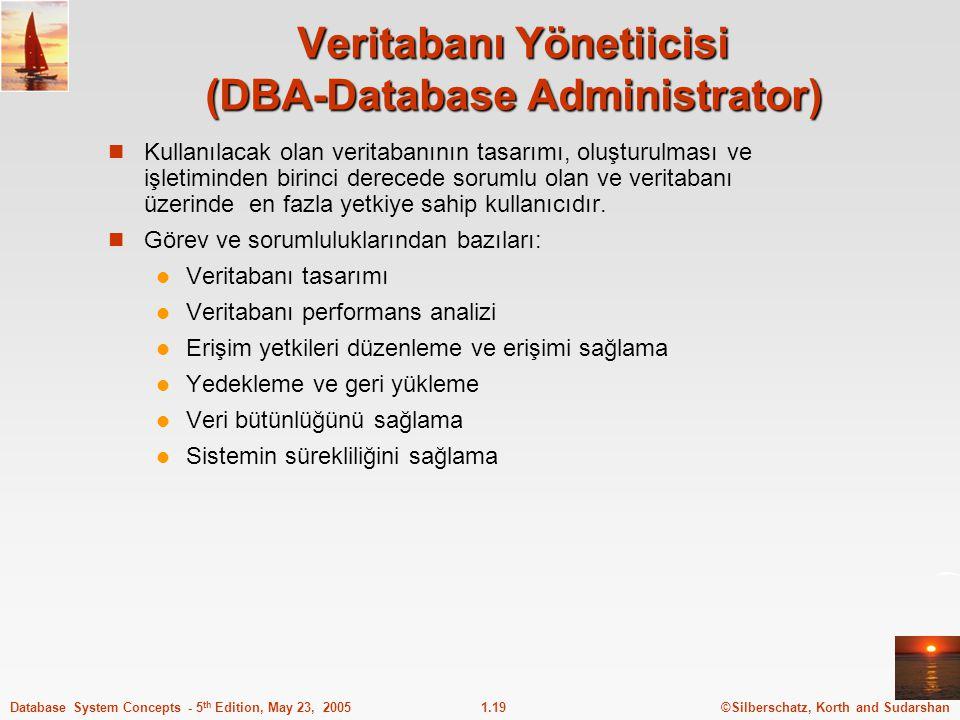 Veritabanı Yönetiicisi (DBA-Database Administrator)