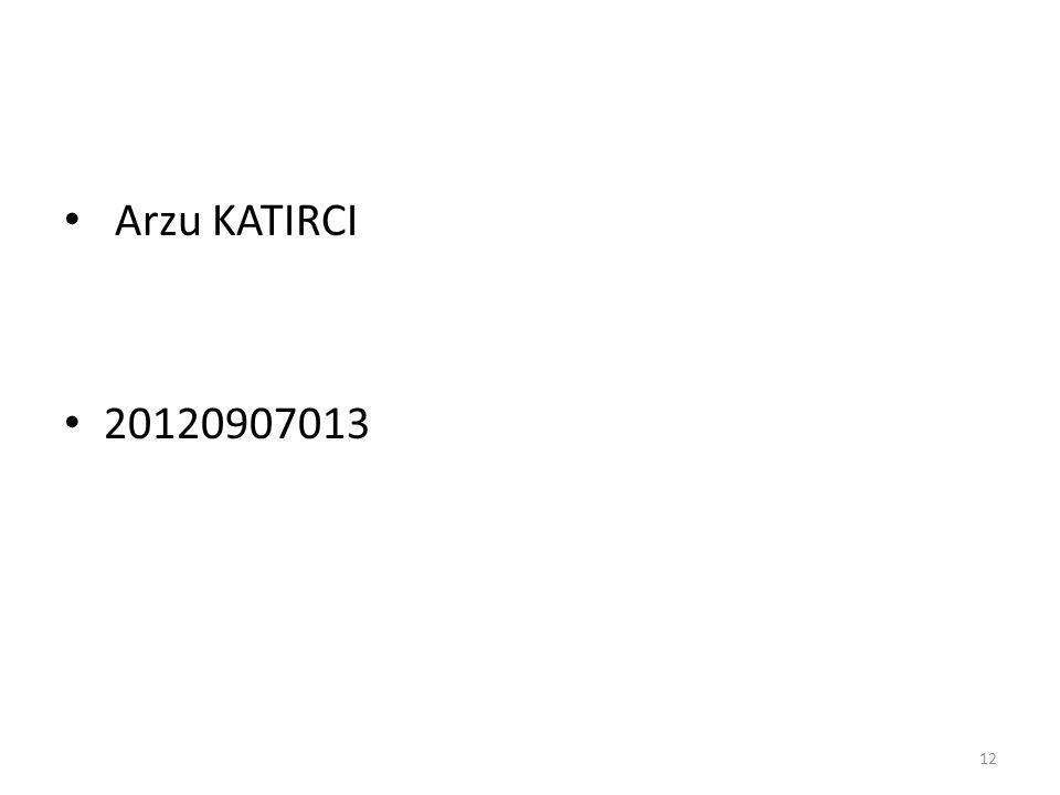 Arzu KATIRCI 20120907013