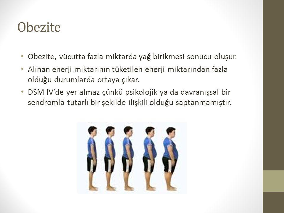 Obezite Obezite, vücutta fazla miktarda yağ birikmesi sonucu oluşur.