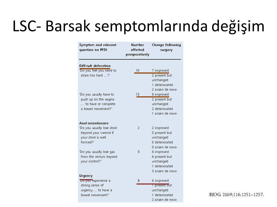 LSC- Barsak semptomlarında değişim