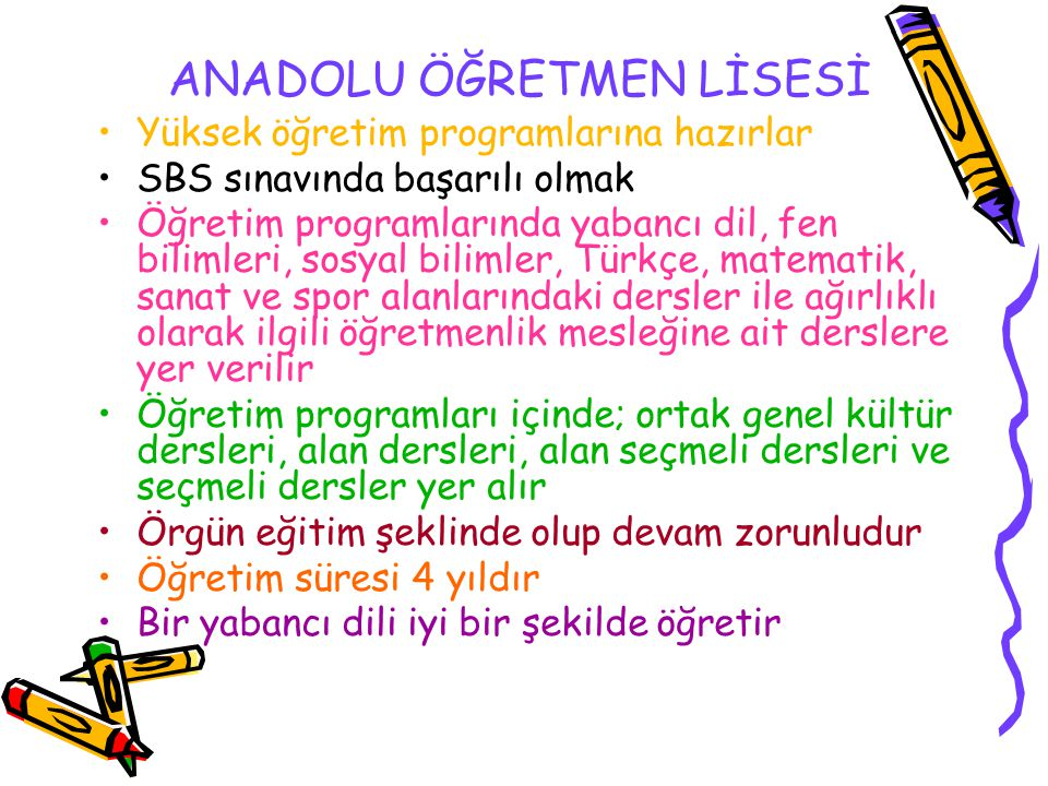 ANADOLU ÖĞRETMEN LİSESİ
