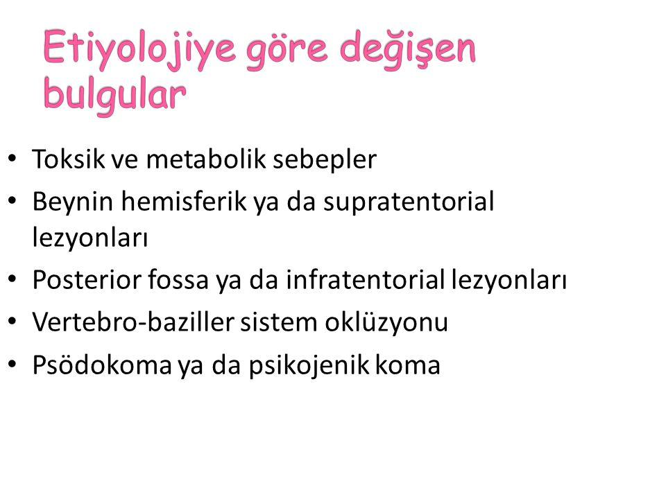 Toksik ve metabolik sebepler