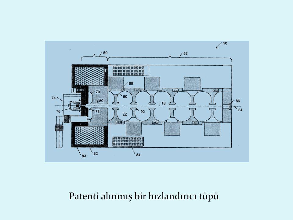 Patenti alınmış bir hızlandırıcı tüpü