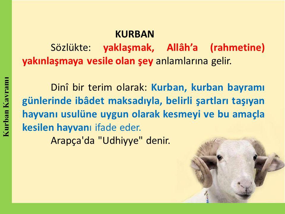 Arapça da Udhiyye denir.