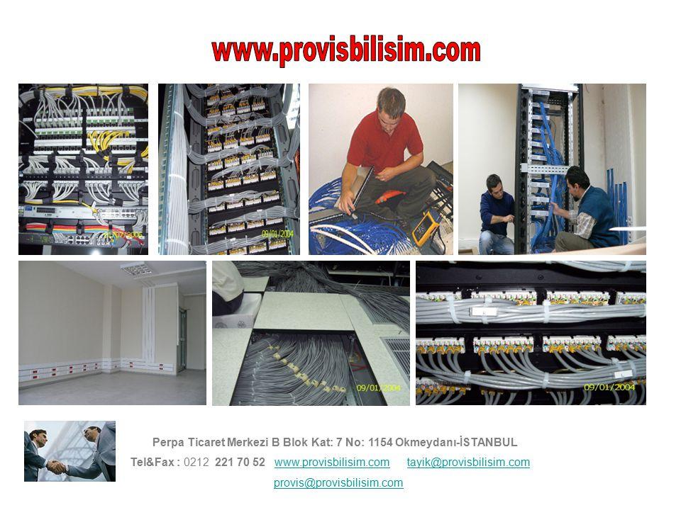 www.provisbilisim.com Perpa Ticaret Merkezi B Blok Kat: 7 No: 1154 Okmeydanı-İSTANBUL.