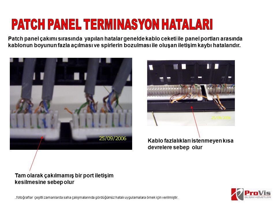 PATCH PANEL TERMINASYON HATALARI
