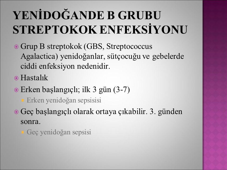 YENİDOĞANDE B GRUBU STREPTOKOK ENFEKSİYONU