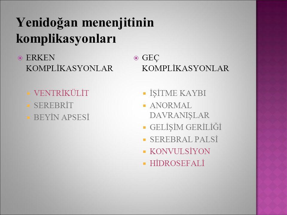 Yenidoğan menenjitinin komplikasyonları