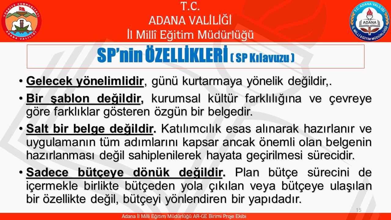 SP'nin ÖZELLİKLERİ ( SP Kılavuzu )