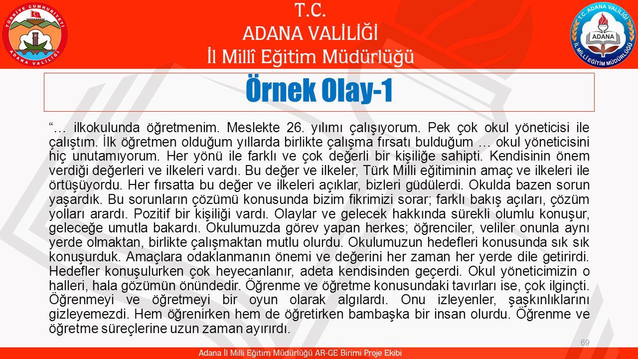 Örnek Olay-1