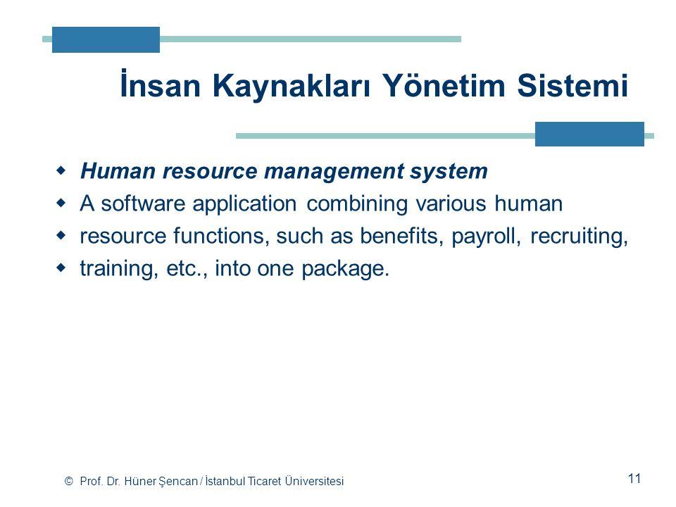 İnsan Kaynakları Yönetim Sistemi