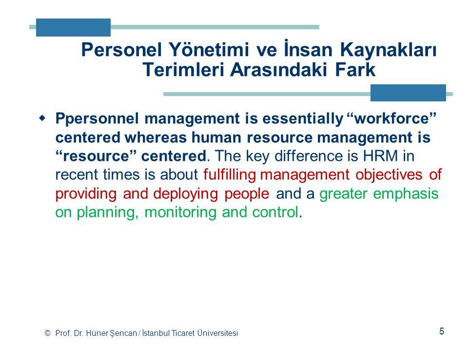 Personel Yönetimi ve İnsan Kaynakları Terimleri Arasındaki Fark