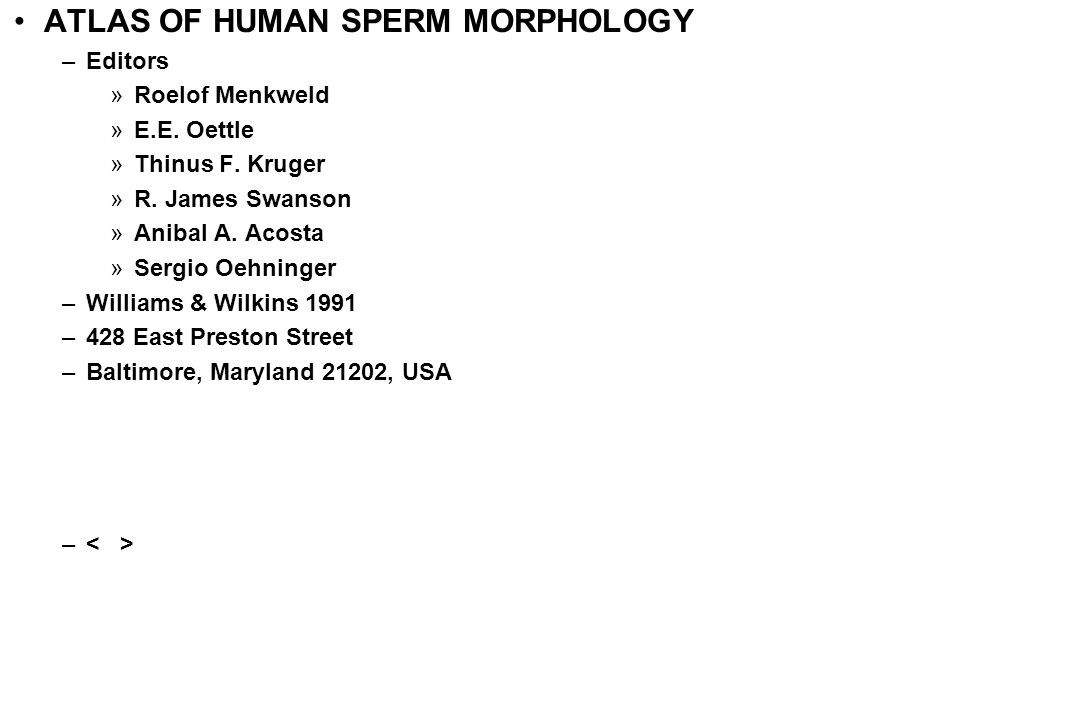 ATLAS OF HUMAN SPERM MORPHOLOGY