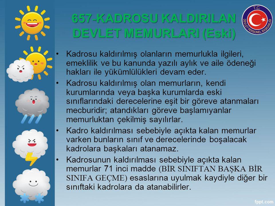 657-KADROSU KALDIRILAN DEVLET MEMURLARI (Eski)