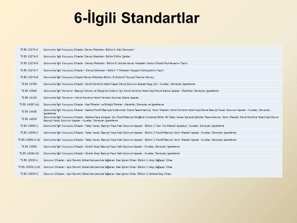 6-İlgili Standartlar TS EN 13274-4