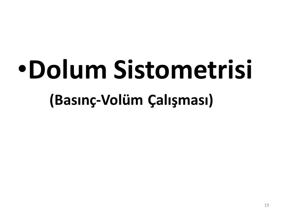 Dolum Sistometrisi (Basınç-Volüm Çalışması)