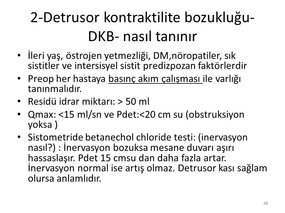 2-Detrusor kontraktilite bozukluğu-DKB- nasıl tanınır
