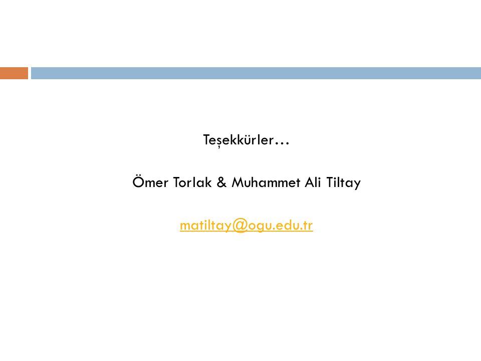 Ömer Torlak & Muhammet Ali Tiltay