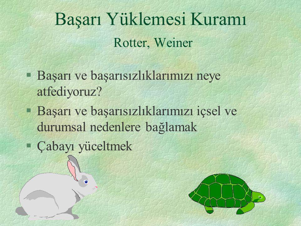 Başarı Yüklemesi Kuramı Rotter, Weiner