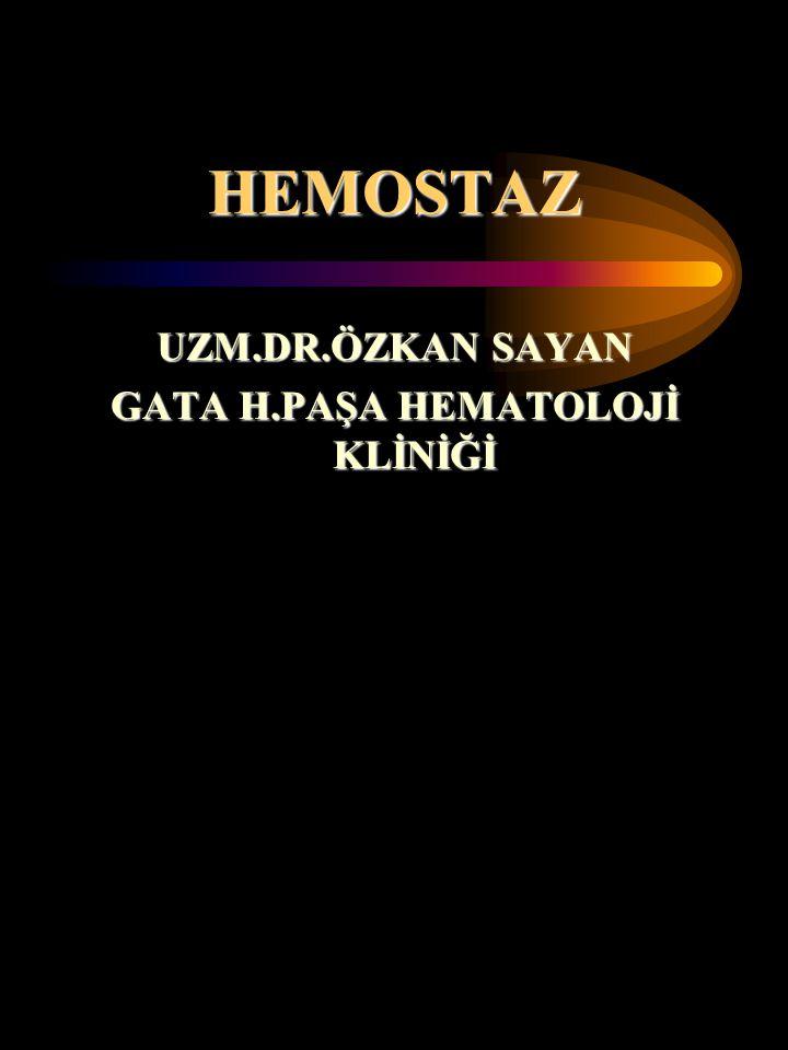 GATA H.PAŞA HEMATOLOJİ KLİNİĞİ