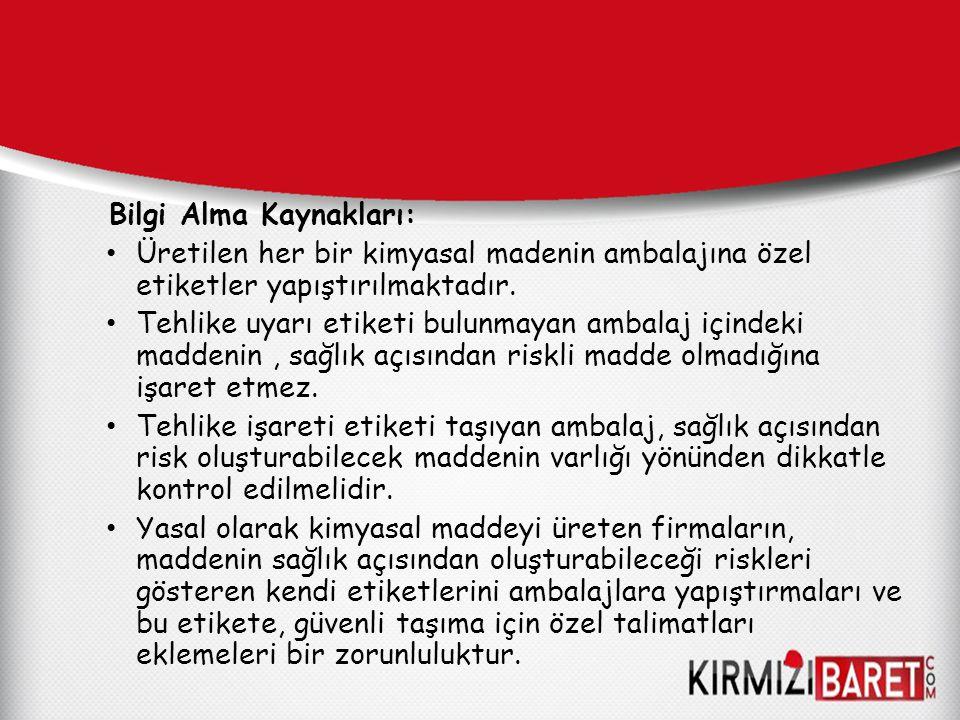 Bilgi Alma Kaynakları: