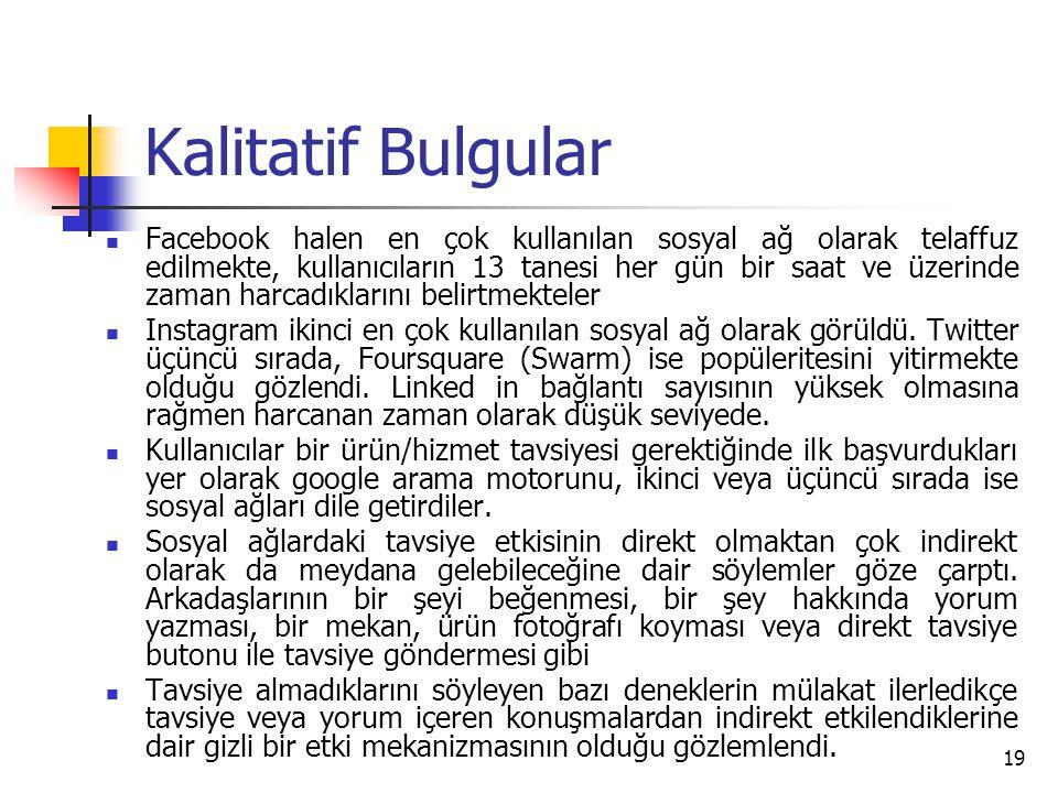 Kalitatif Bulgular