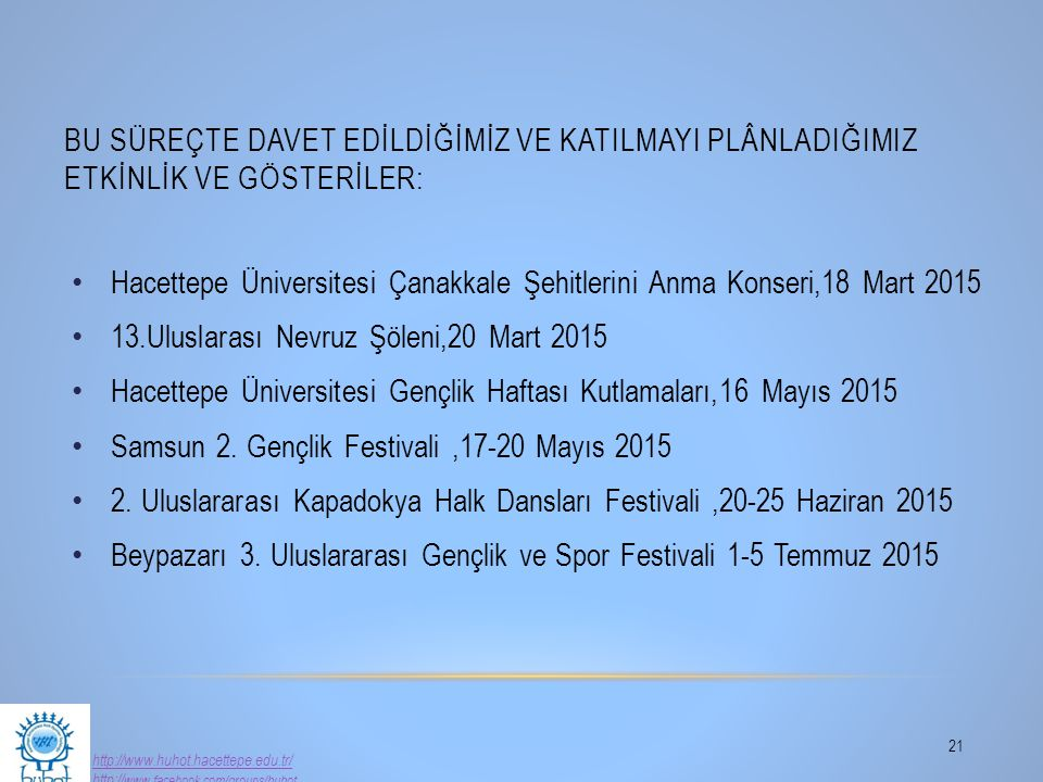 Hacettepe Üniversitesi Çanakkale Şehitlerini Anma Konseri,18 Mart 2015