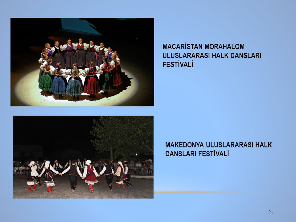 MACARİSTAN MORAHALOM ULUSLARARASI HALK DANSLARI FESTİVALİ