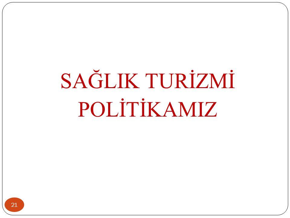 SAĞLIK TURİZMİ POLİTİKAMIZ