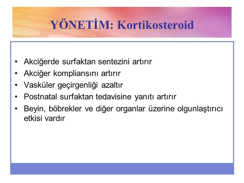 YÖNETİM: Kortikosteroid