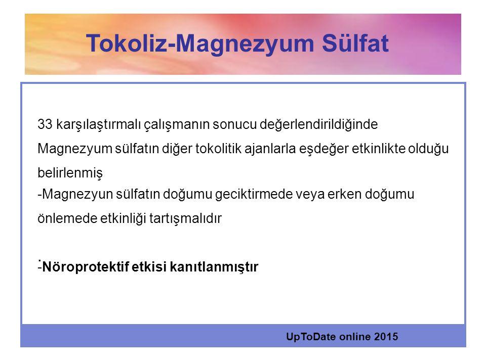 Tokoliz-Magnezyum Sülfat