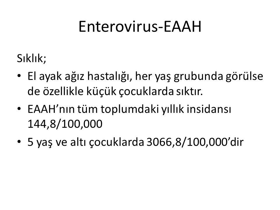 Enterovirus-EAAH Sıklık;