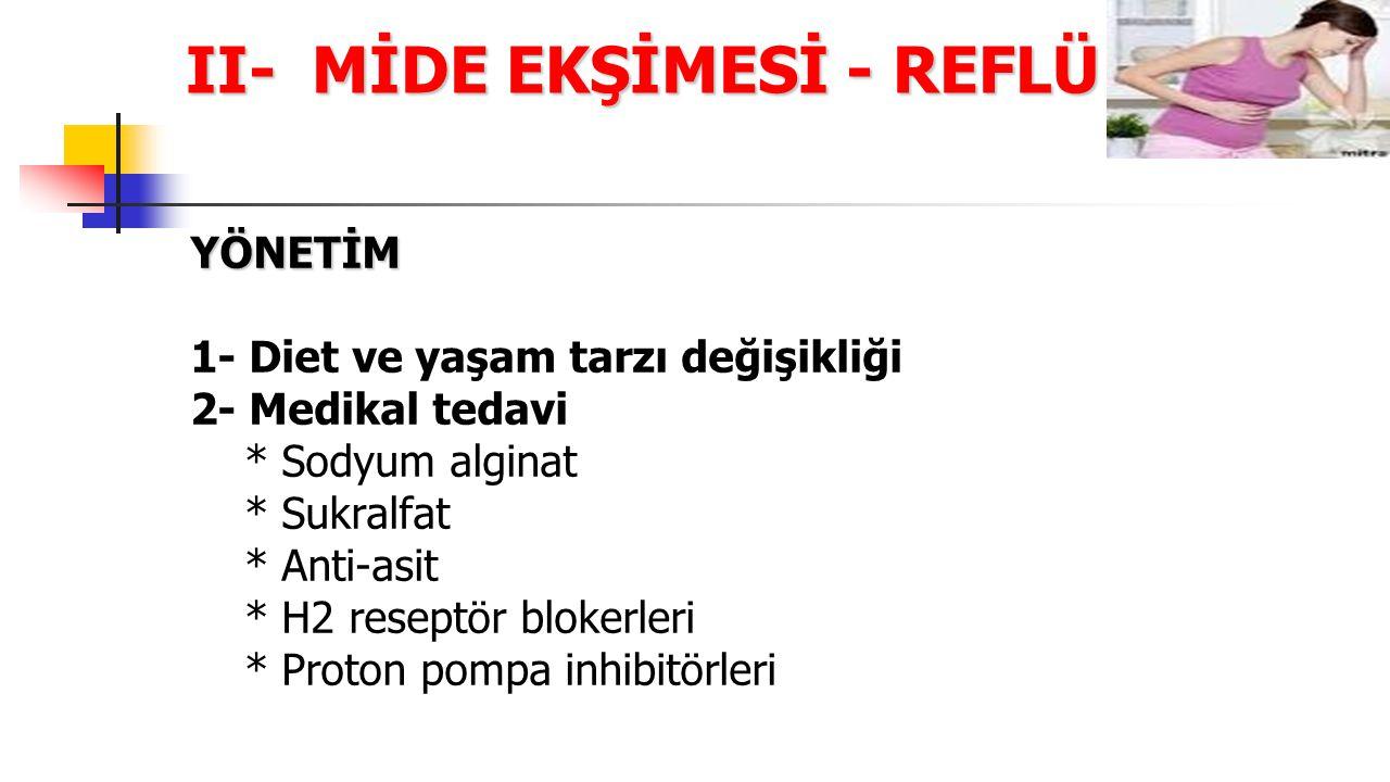 II- MİDE EKŞİMESİ - REFLÜ