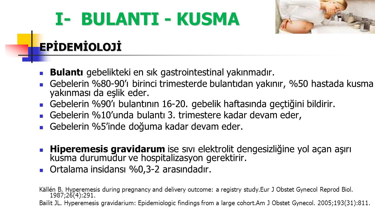 I- BULANTI - KUSMA EPİDEMİOLOJİ